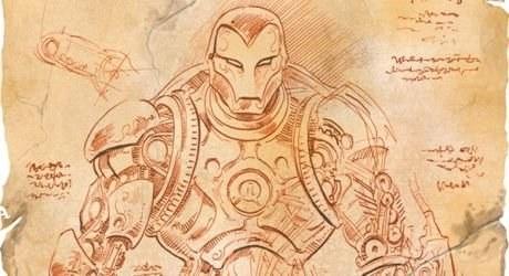 Iron Man dle Leonarda Da Vinciho