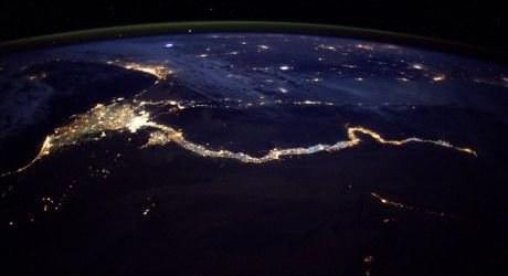 Nil vyfocený z vesmíru